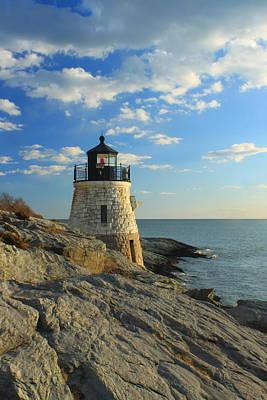 Photograph - Castle Hill Lighthouse Newport Rhode Island by John Burk