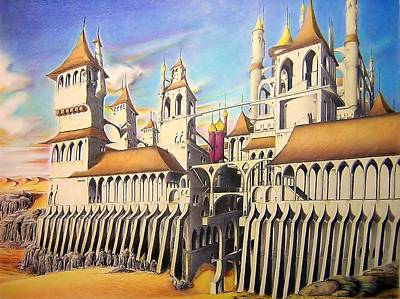 Castle In The Sand Art Print by Eric Pouillet