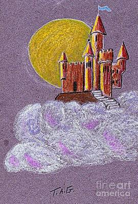 Castle Moon Art Print