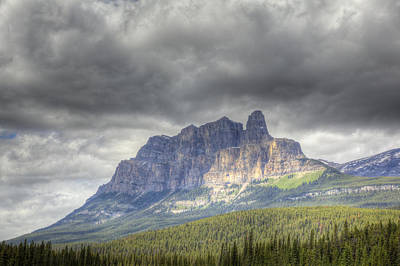 Castle Mountain 2011 Art Print
