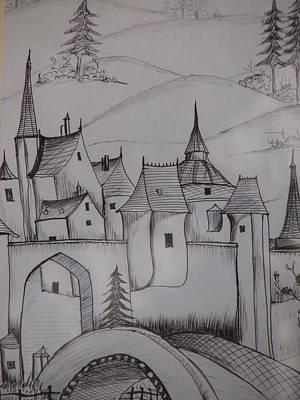 Castle On Hilltop Art Print by Ghosh Bose