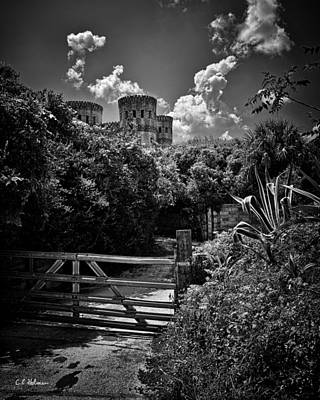 Photograph - Castle Ottis - Bw by Christopher Holmes