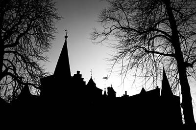 Photograph - Castle Silhouette by Semmick Photo