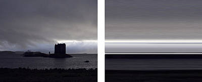 Photograph - Castle Stalker Diptych by Gary Eason