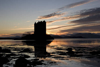 Rannoch Moor Digital Art - Castle Stalker by Pat Speirs