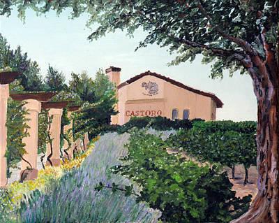 Castoro Winery Art Print by Barbara Willey