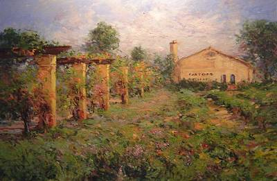 Central Coast Winery Painting - Castoro Winery by R W Goetting