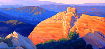 Canyon Painting - Castro Crest Panorama Study by Elena Roche