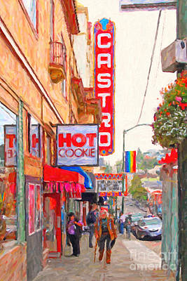 Castro District Digital Art - Castro Street San Francisco by Wingsdomain Art and Photography