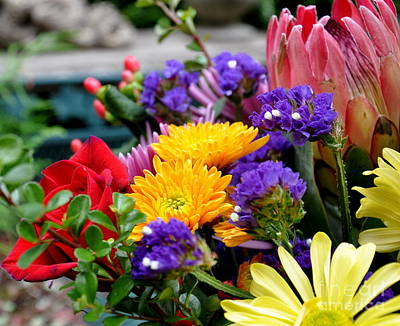 Flowers Photograph - Casual Bouquet by Tanya  Searcy