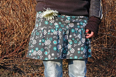 Photograph - Casual Fashion - Floral Skirt And Trousers by Matthias Hauser
