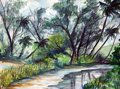 Casuarinas And Palms Art Print by Jon Shepodd