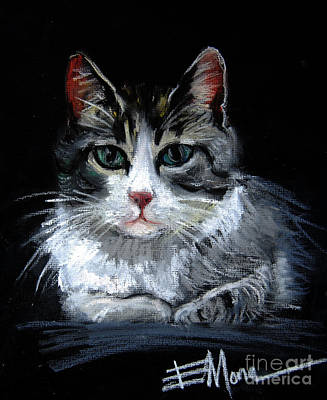 Pastel - Cat 2 by Mona Edulesco