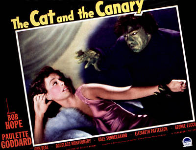 1939 Movies Photograph - Cat And The Canary, The, Paulette by Everett