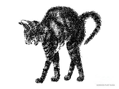 Animals Drawing - Cat-artwork-prints-2 by Gordon Punt
