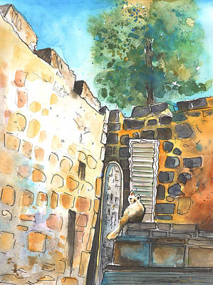 Cyprus Cats Drawing - Cat In Nicosia by Miki De Goodaboom