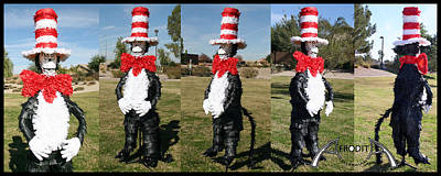 Mixed Media - Cat In The Hat by Afrodita Ellerman