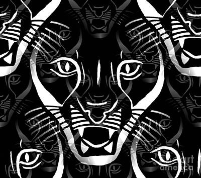Digital Art - Cat Mask by Barbara Moignard