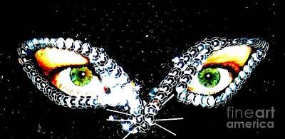 Cat Mask Print by C Lythgo