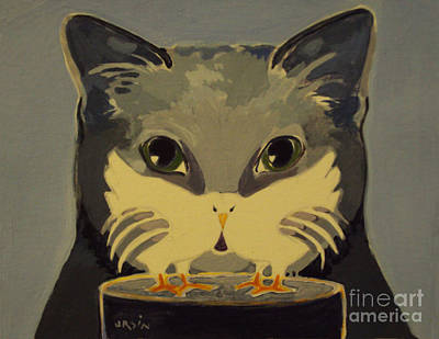 Painting - Cat Mask by Diane Ursin
