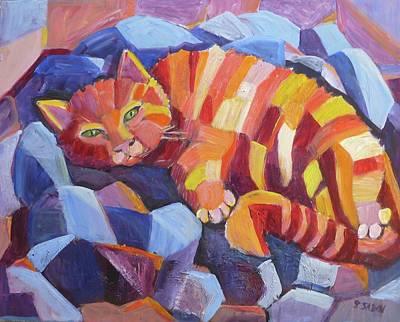 Cat Nap Art Print by Saga Sabin