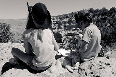 Its A Piece Of Cake - Cat on the South Kaibab Trail by Julie Niemela