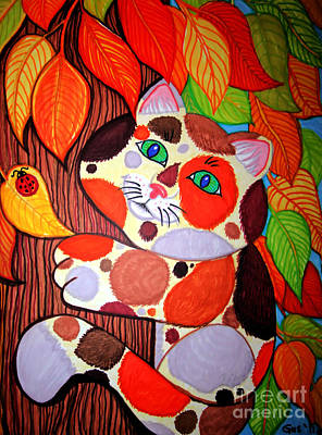 Cat Up A Tree Art Print