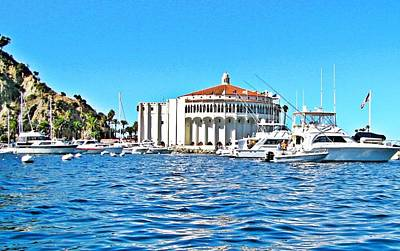 Catalina Casino View From A Boat Art Print by Lauren Serene