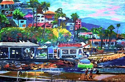 California Tourist Spots Painting - Catalina Island 2 by Rom Galicia