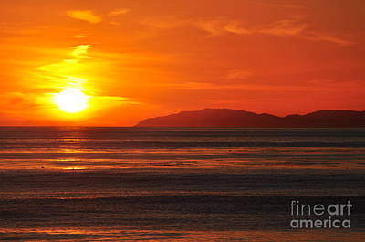 Art Print featuring the photograph Catalina Sunset by Johanne Peale