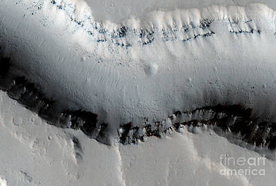 Tharsis Photograph - Catastrophic Outflow Features, Mars by Nasa