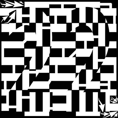 Catch 22 Maze Print by Yonatan Frimer Maze Artist