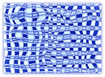Catch A Wave - Blue Abstract Art Print by Carol Groenen