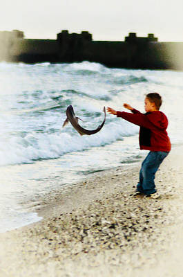 Catch And Release Art Print by Bill Cannon