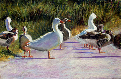 Canadian Geese Painting - Catchin' Some Rays by Char Wood