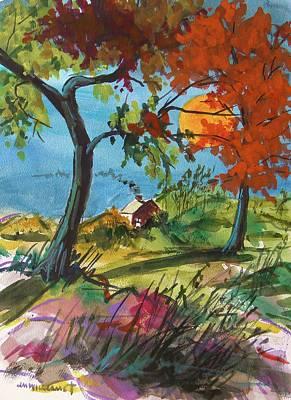 John Williams Drawing - Catching Sundown by John Williams
