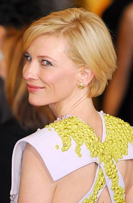 Diamond Earrings Photograph - Cate Blanchett At Arrivals For The 83rd by Everett