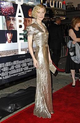 Cate Blanchett Photograph - Cate Blanchett Wearing A Ralph Lauren by Everett