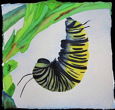 Art Print featuring the painting Caterpillar by Teresa Beyer