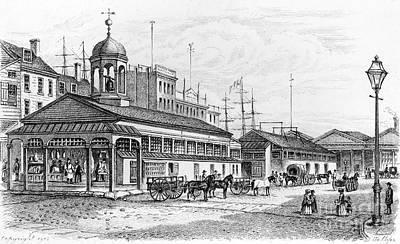 Conestoga Wagon Photograph - Catharine Market, 1850 by Granger