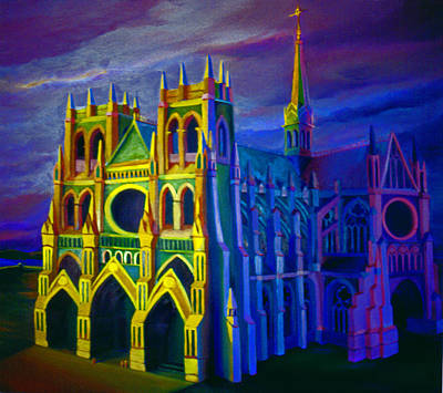 Painting - Cathedral 1977 by Nancy Griswold
