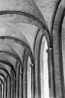 In A Row Photograph - Cathedral At Eberbach Monastery by Dg73