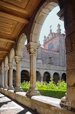 Cathedral Cloister Art Print by Carlos Caetano