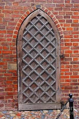 Cathedral Door In Gdansk Art Print by Sophie Vigneault