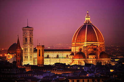 Photograph - Cathedral Firenze by John Galbo