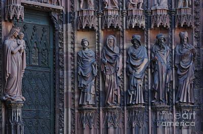Cathedral In Strasbourg Details Art Print