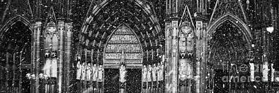 Art Print featuring the photograph Cathedral In The Snow Panorama by Andy Prendy