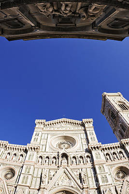 Baptistry Photograph - Cathedral Of Santa Maria Del Fiore And The Baptistry by Jeremy Woodhouse