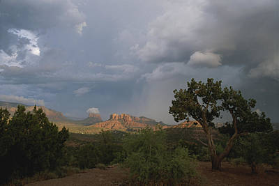 Cathedral Rock Photograph - Cathedral Rock In Distance by Todd Gipstein