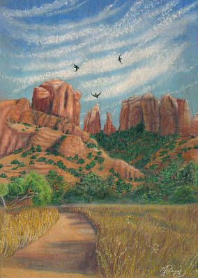 Cathedral Rock In Sedona Art Print by Marcia  Perry
